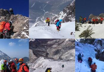 雪山バリエーションコース